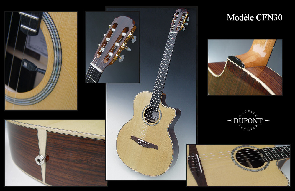 folk guitars nylon strings model crafted by maurice dupont. Black Bedroom Furniture Sets. Home Design Ideas