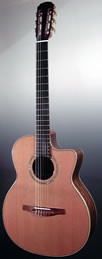 Folk guitar Concert nylon-string