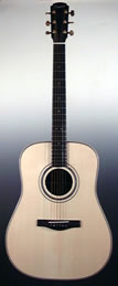 Folk guitar steel-string Dreadnought
