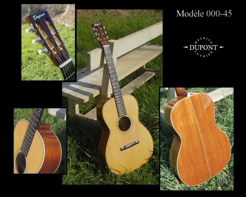 Guitares folk mod le000 maurice dupont for Guitar domont