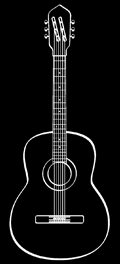 Folk guitar steel-string OM Type Martin Vintage